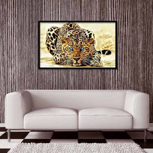 3D 황금 표범 (50x30cm)