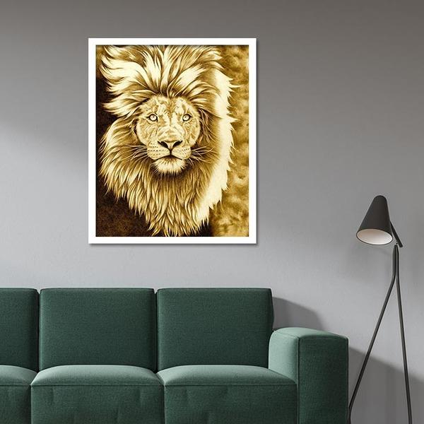 3D 황금 사자 (40x50cm)