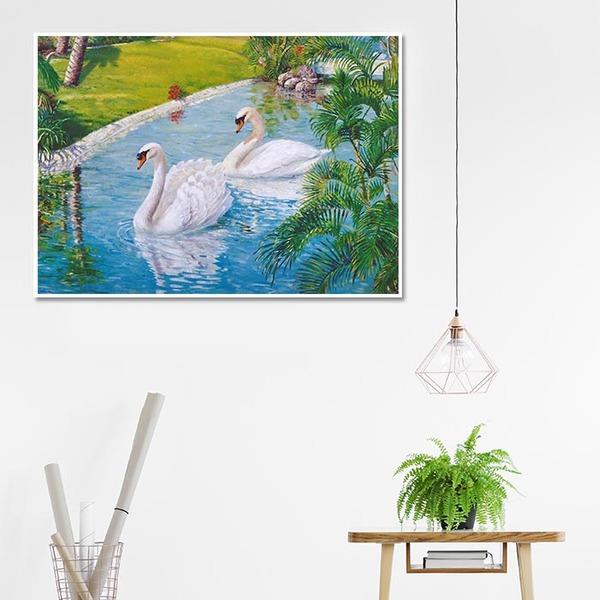 3D 백조의 호수 (70x50cm)